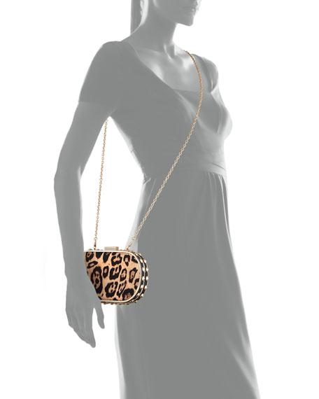 Samantha Leopard-Print Clutch Bag
