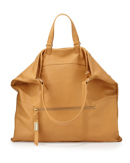 Convertible Leather Hobo Bag, Baja
