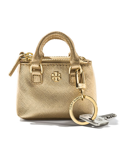 Tory Burch Robinson Double-Zip Key Tote, Gold