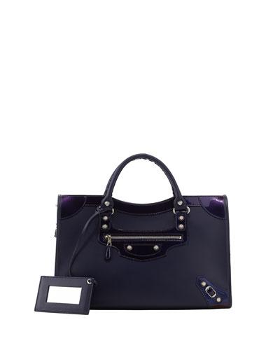 Balenciaga Giant 12 Nickel City Bag, Purple
