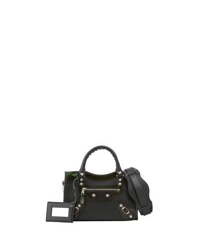 Balenciaga Giant 12 Nickel City Mini Bag, Green
