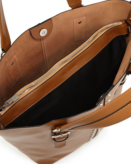 Day Studded Leather Tote Bag, Tan