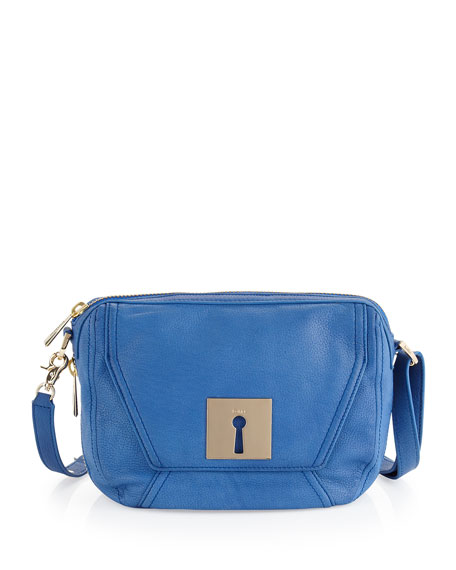 Keyhole Crossbody Bag, French Blue