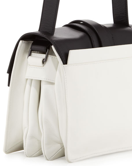 Colorblock Shoulder Bag, Black/White