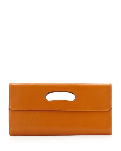 Hobo Katrina Cutout Handle Clutch, Amber