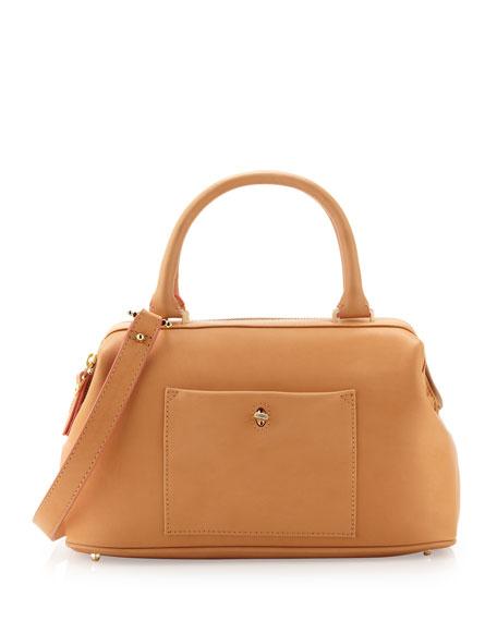 Epic Leather Satchel/Shoulder Bag, Cuoio