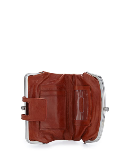 Lisa Sectioned Vintage Leather Wallet, Cinnamon