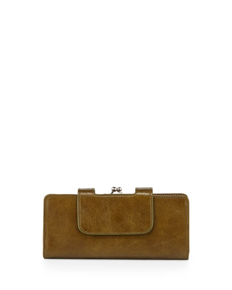 Hobo Nancy Vintage Leather Wallet, Kiwi