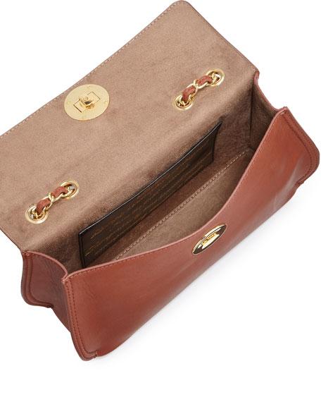 Borsa Faux-Leather Crossbody Bag, Brown