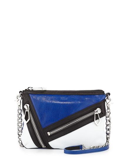 Cruz Colorblock Zip Crossbody Bag, Ultra Violet/White
