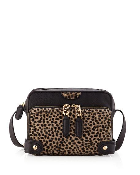 Binky Leopard-Print Crossbody Bag
