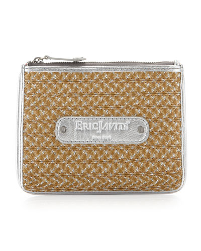 Eric Javits EJ Zip Coin Purse, Natural Frost