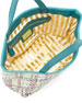 Callie Woven PVC Tote Bag, Teal