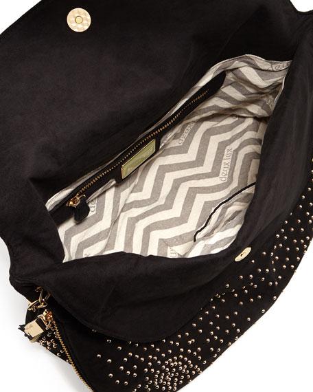 Atlantis Studded Shoulder Bag, Black