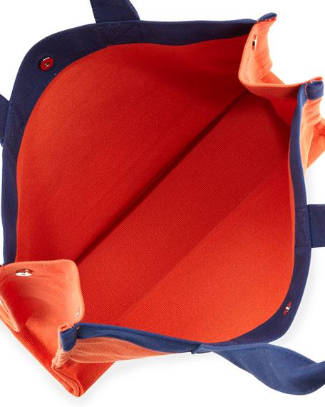 Village Canvas Tote Bag, Orange/Navy