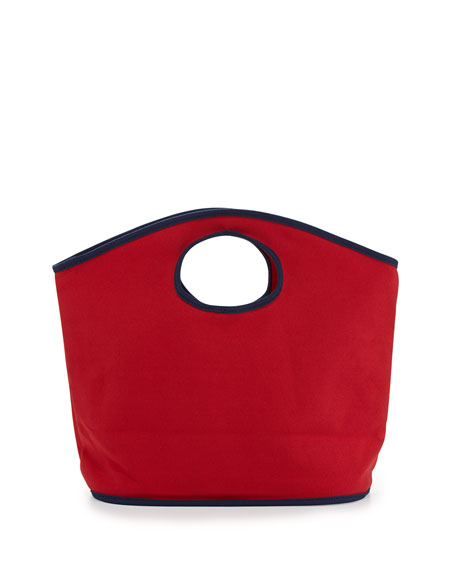 Classic Canvas Mini Grab Bag, Red