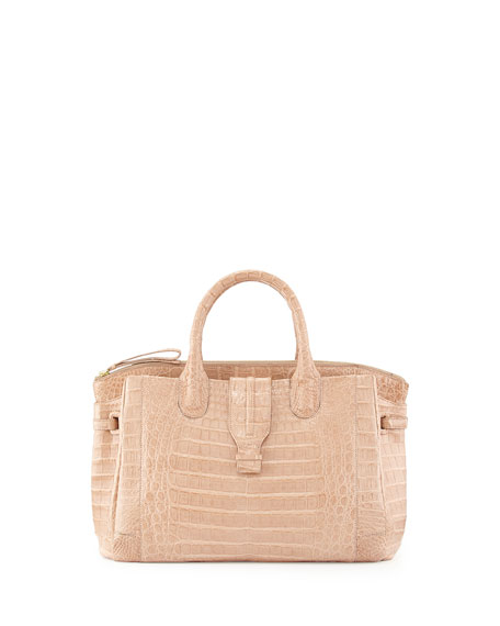 Small Crocodile Tote Bag, Nude (Made to Order)