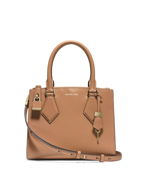 Michael Kors Collection Casey Small Satchel Bag, Peanut