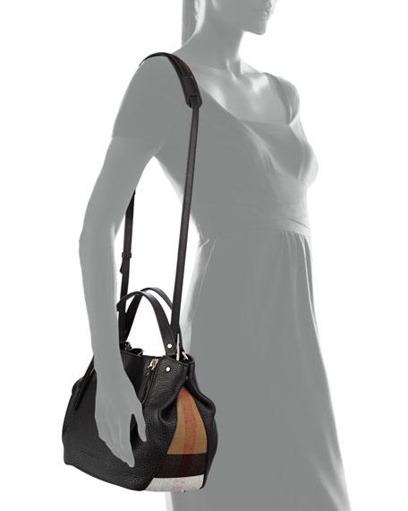 5010aa100a53 Burberry Tan And Red Nova Check Leather Small Shoulder Bag Bluefly Com ...