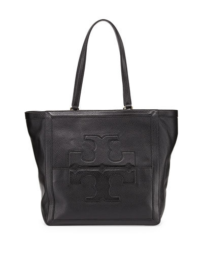 Tory Burch Jessica Leather Tote Bag, Black
