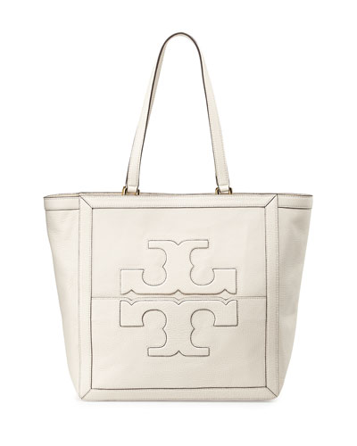 Tory Burch Jessica Leather Tote Bag, Birch