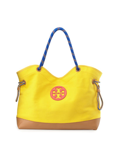 Tory Burch Kellyn Canvas Tote Bag, Banana Yellow`