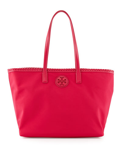 Tory Burch Marion Nylon Tote Bag, Carnation Red