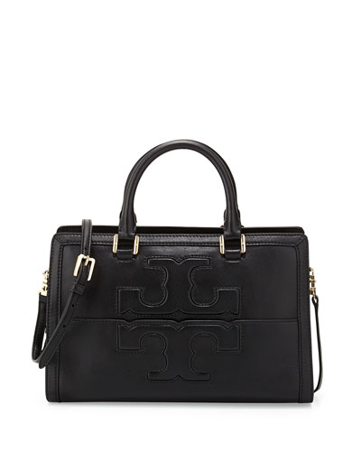 Tory Burch Jessica Leather Satchel Bag, Black