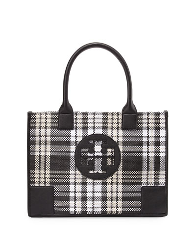 Tory Burch Ella Mini Plaid Tote