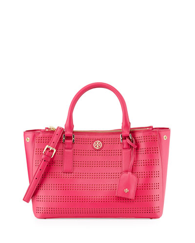 Tory Burch Robinson Perforated Double-Zip Tote Bag