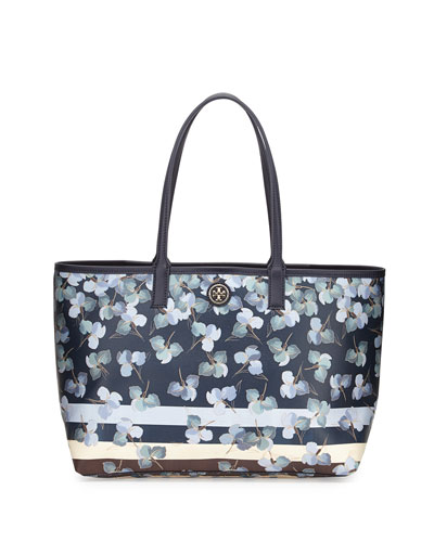 Tory Burch Kerrington Floral-Print Shopper Tote Bag