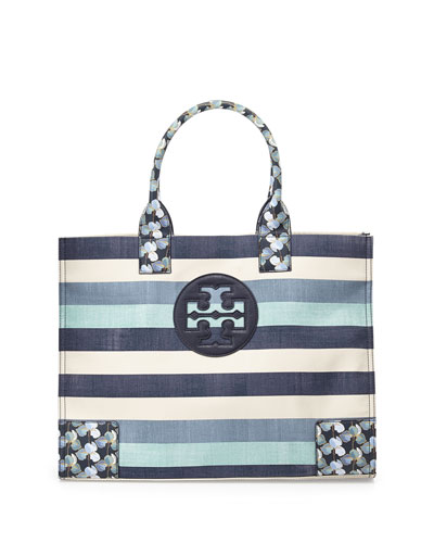 Tory Burch Ella Canvas Tote Bag, Harbor Stripe
