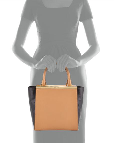 9c91e68baf8204 MICHAEL Michael Kors Lana Medium Colorblock Tote Bag, Suntan/Black
