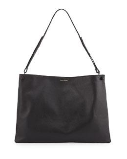 Pour la Victoire Bijou Leather Shoulder Bag, Black