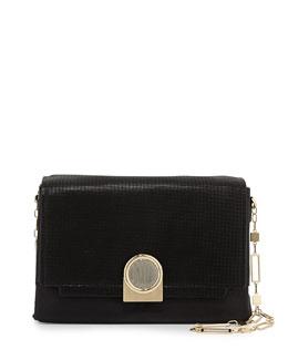 Pour la Victoire Bijou Chain Shoulder Bag, Black