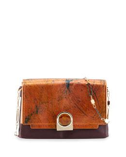 Pour la Victoire Bijou Colorblock Chain Shoulder Bag, Marble Metallic
