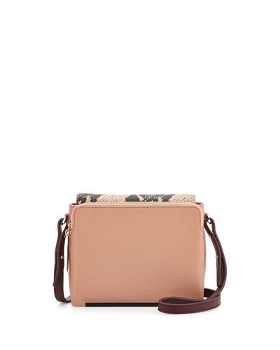 Pour la Victoire Provence Mini Crossbody Bag, Dusty Pink Multi