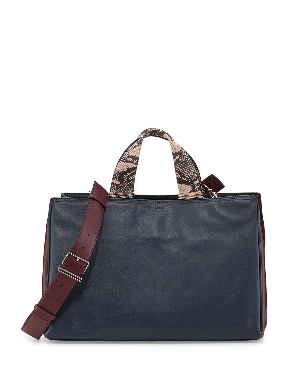 Inez Colorblock Carryall Tote Bag, Deep Navy
