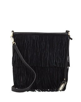 Urban Originals Burning Up Fringe Crossbody Bag, Black