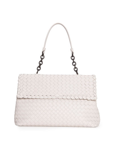 Bottega Veneta Olimpia Medium Shoulder Bag, White