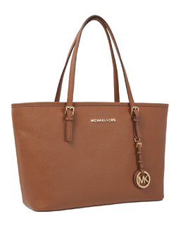 MICHAEL Michael Kors  Jet Set Saffiano Tablet Travel Tote