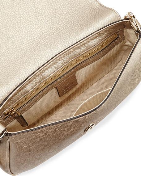 Soho Metallic Crossbody Bag, Gold