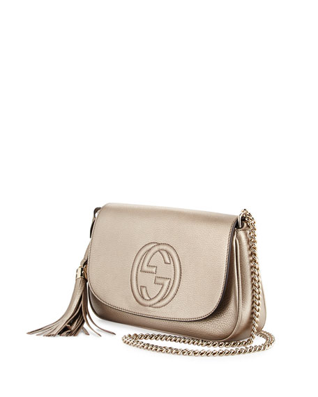 Soho Metallic Crossbody Bag, Gold