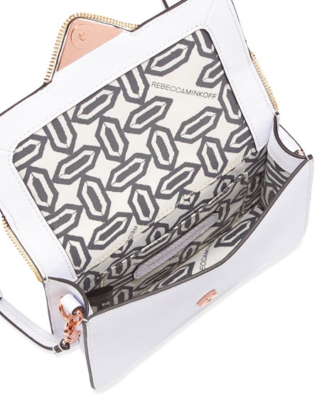 Sammy Leather Crossbody Bag, White (Stylist Pick!)