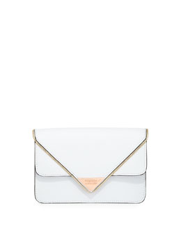 Rebecca Minkoff Sammy Leather Crossbody Bag, White (Stylist Pick!)