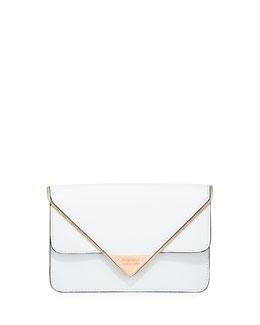 Rebecca Minkoff Sammy Leather Crossbody Bag, White (Stylist Pick!)
