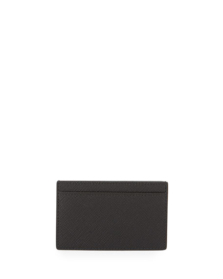 Smythson Panama 771 Card Case, Black