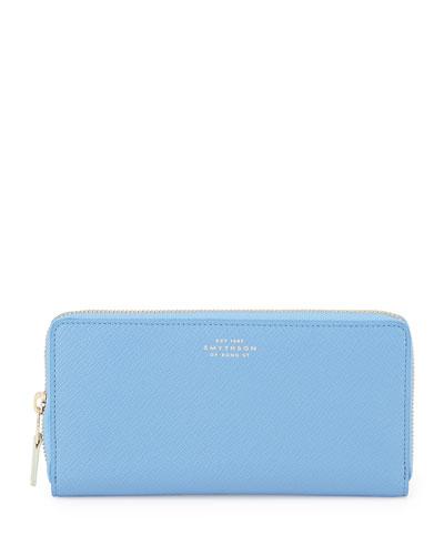 Panama Large Zip Wallet, Blue