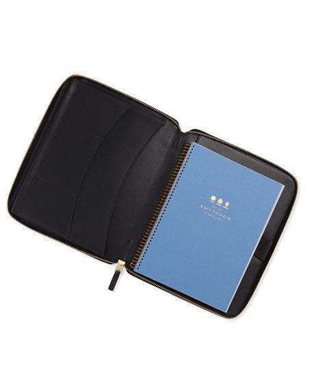 Panama A5 Zip Folder with Notebook, Black