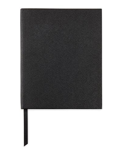 Leather Manuscript Book, Black